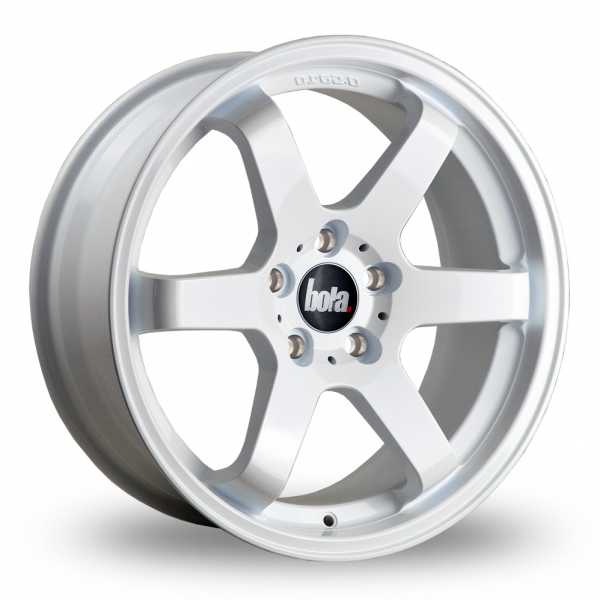 "18"" Bola B1 White Alloy Wheels"