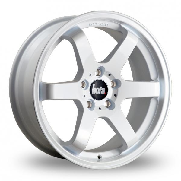 "19"" Bola B1 White Alloy Wheels"