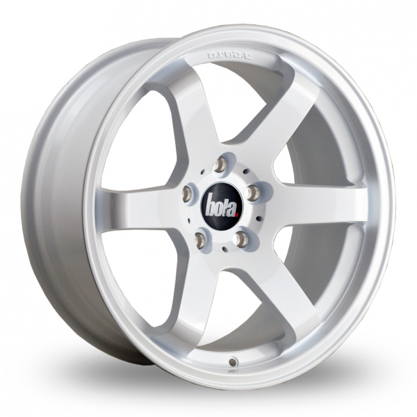 """18"""" Bola B1 White Wider Rear Alloy Wheels"""