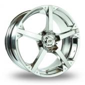 BK Racing 300 Chrome Alloy Wheels