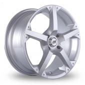BK Racing 300 Silver Alloy Wheels