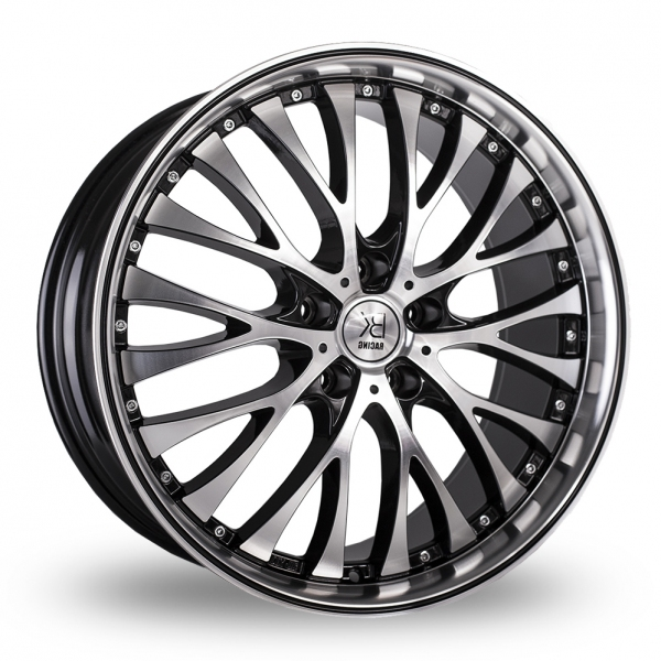 "Picture of 20"" BK 861 Black/Polished Black Pinstripe"