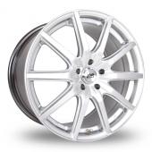 BK Racing 792 Hyper Silver Alloy Wheels