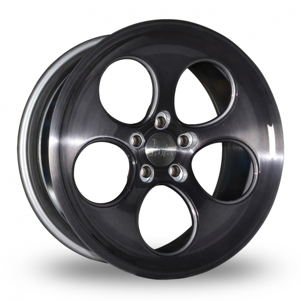 "Picture of 18"" Bola B5 Black Brushed Face Wider Rear"