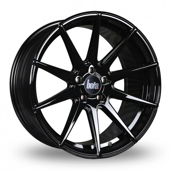 "19"" Bola CSR Gloss Black Wider Rear Alloy Wheels"