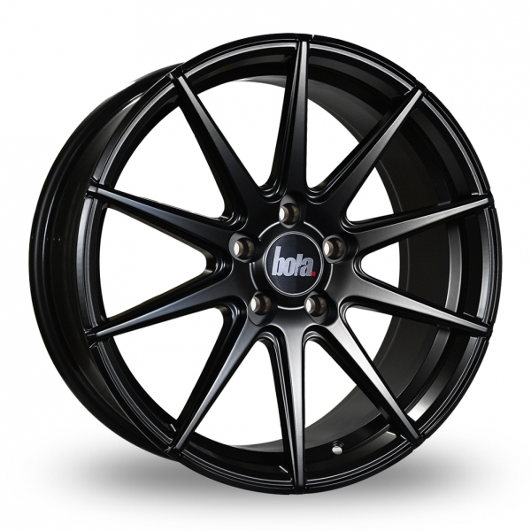 "18"" Bola CSR Satin Black Alloy Wheels"