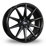 19 Inch Bola CSR Satin Black Alloy Wheels
