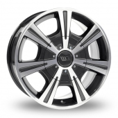 CW by Borbet CH Mistral Anthracite Polished Alloy Wheels