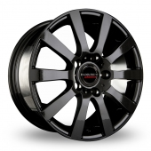 CW by Borbet C2C Black Alloy Wheels
