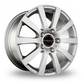 CW by Borbet C2C Silver Alloy Wheels
