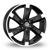 Carre Navajo Black Polished Alloy Wheels