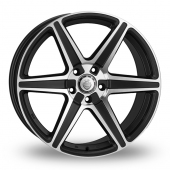 Cades Thor Black Polished Alloy Wheels