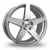 Calibre CC-F Hyper Silver Alloy Wheels