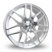 Calibre Exile White Polished Alloy Wheels