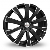 Calibre Manhattan Black Polished Alloy Wheels