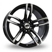 DRC DMF Black Polished Alloy Wheels