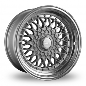 Dare DR-RS Silver Polished Lip Alloy Wheels