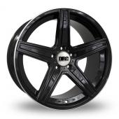 DRC DMA Black Polished Rim Alloy Wheels