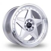 Dare DR-FR Silver Polished Lip Alloy Wheels