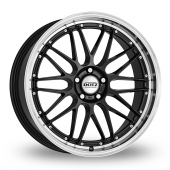 Dotz Revvo Black Polished Lip Alloy Wheels