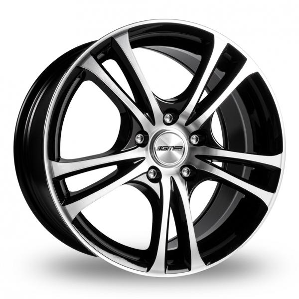 15 Inch GMP Italia Easy-R Black Polished Alloy Wheels