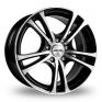 16 Inch GMP Italia Easy-R Black Polished Alloy Wheels