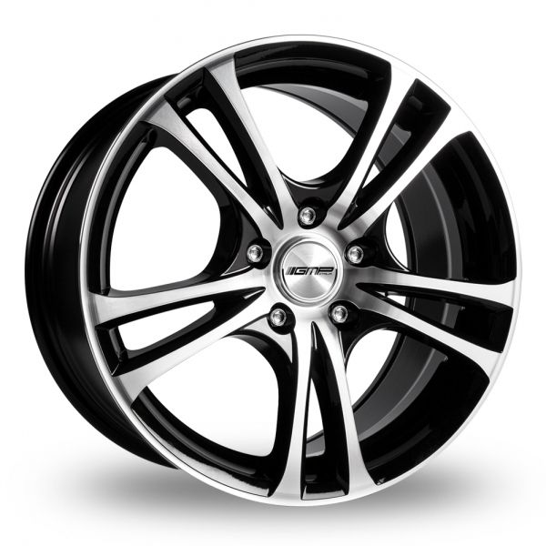 "17"" GMP Italia Easy-R Black/Polished Alloy Wheels"