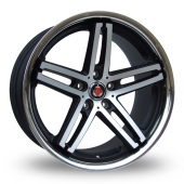 Axe EX11 (Special Offer) Black Polished Alloy Wheels