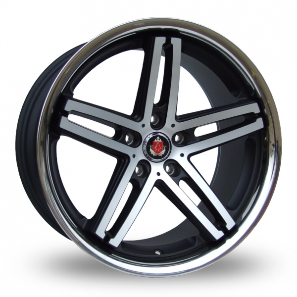 "Picture of 19"" Axe EX11 Black/Polished Stainless Steel Rim Wider Rear Special Offer"