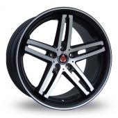 Axe EX11 Black Polished Lip Alloy Wheels
