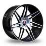 9x20 (Front) & 10.5x20 (Rear) Axe EX31 Black Polished Alloy Wheels