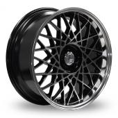 Lenso Eagle 2 Black Polished Alloy Wheels