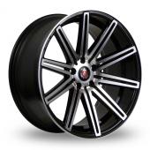 Axe EX15 Black Polished Alloy Wheels