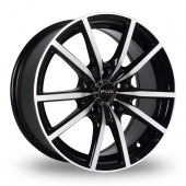 Fox Racing FX10 Black Polished Alloy Wheels
