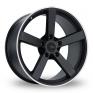 18 Inch Fox Racing MS003 Black Polished Pinstripe Alloy Wheels