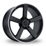 19 Inch Fox Racing MS003 Black Polished Pinstripe Alloy Wheels