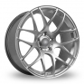 20 Inch Fox Racing MS007 Hyper Silver Alloy Wheels