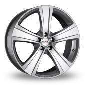 MAK Fuoco  5 Hyper Silver Alloy Wheels