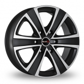 MAK Fuoco 6 Ice Black Alloy Wheels