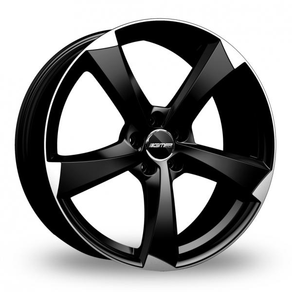 "19"" GMP Italia Ican Black/Polished Alloy Wheels"