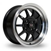 Rota GT3 Black Polished Lip Alloy Wheels