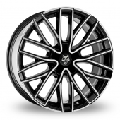 Wolf Design Wolf Design GTP Black Polished Alloy Wheels