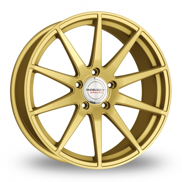 "Picture of 19"" Borbet GTX Matt Gold Wider Rear"