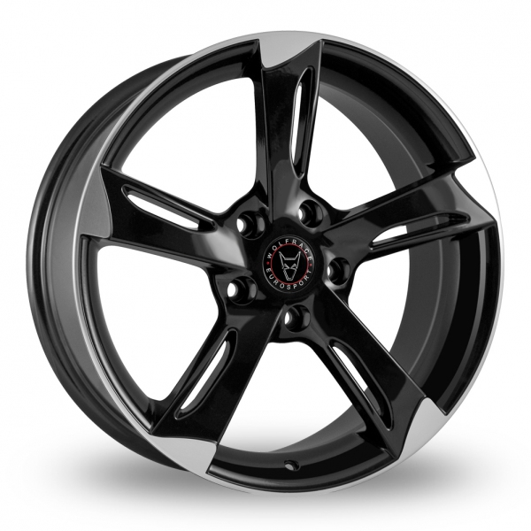 "Picture of 19"" Wolfrace Genesis Black/Polished"