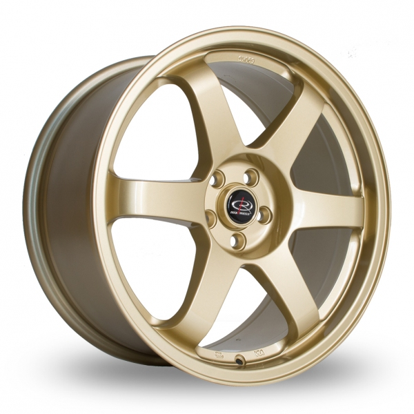 "Picture of 18"" Rota Grid Gold Wider Rear"