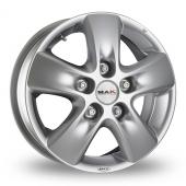 MAK Hd2 Hyper Silver Alloy Wheels