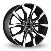 MAK Highlands Black Polished Alloy Wheels