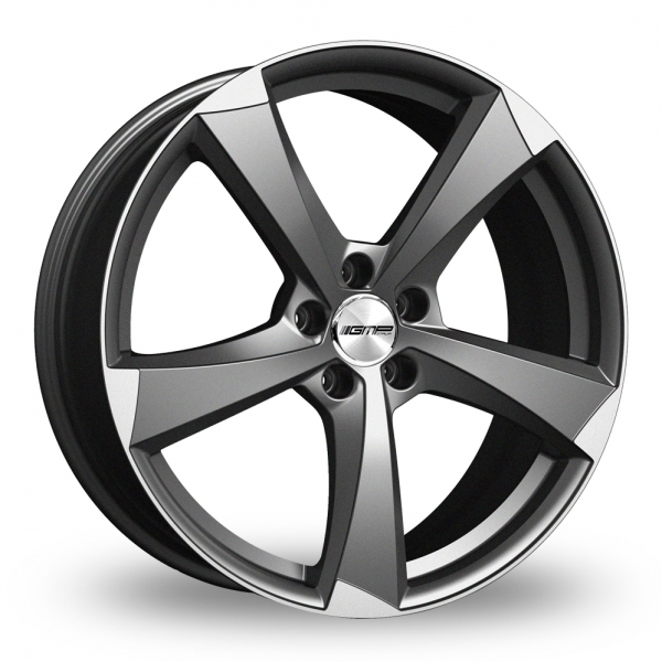 18 Inch GMP Italia Ican Anthracite Polished Alloy Wheels