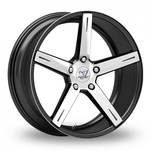 "Picture of 18"" Inovit Rotor Black/Polished Wider Rear"