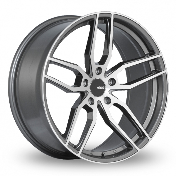 "Picture of 19"" Konig Interform Graphite Machine Face Wider Rear"